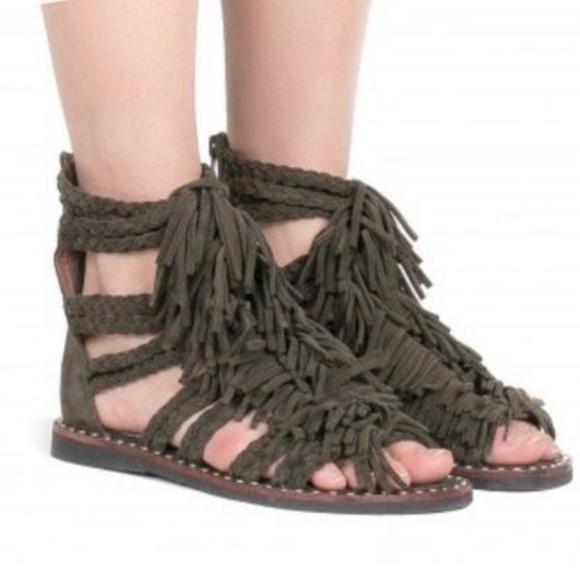 f29c71111f12 Jeffrey Campbell Shoes - Jeffrey Campbell Santana Suede Fringe Sandals